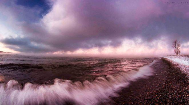 Winter waves on Seneca Lake