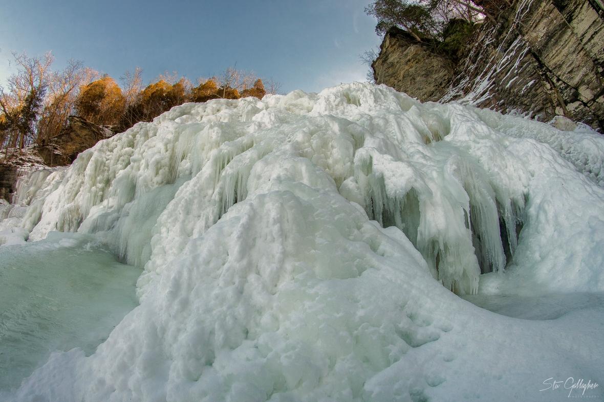 Frozen Hector Falls