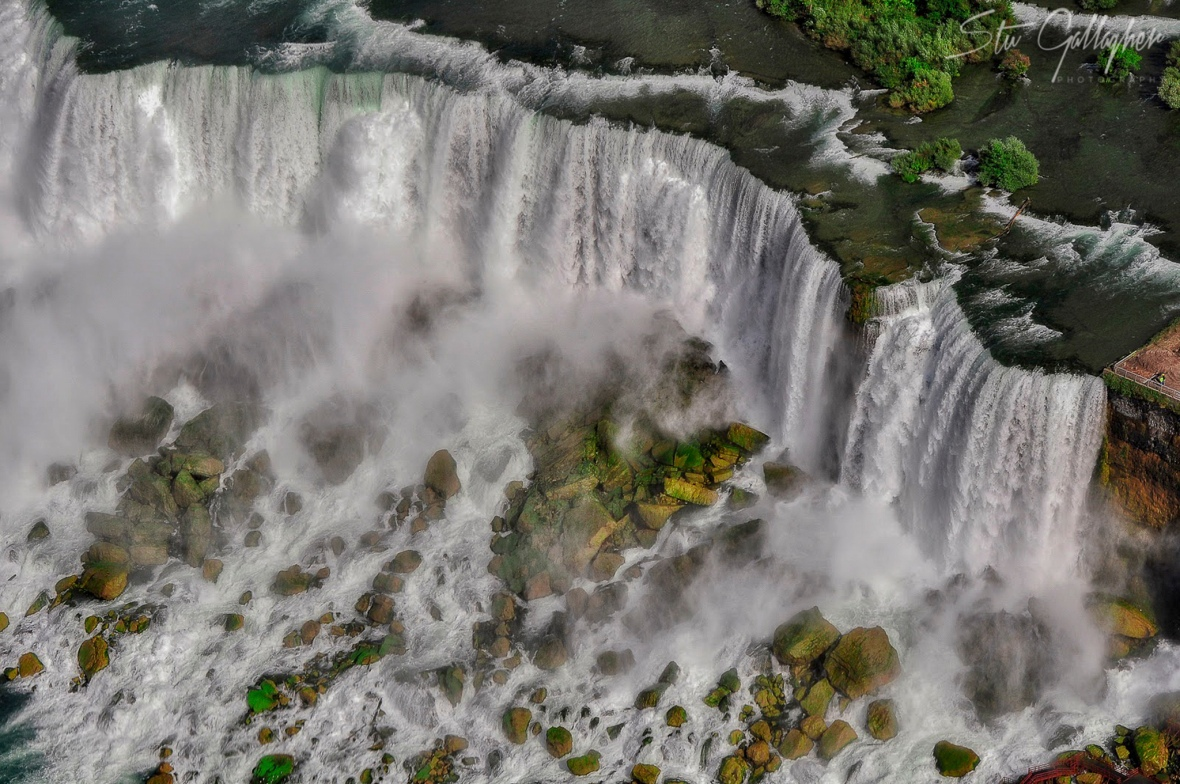 Niagara Falls image from a helicopter