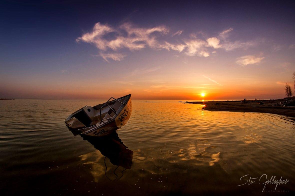 lake ontario sunset sailboat